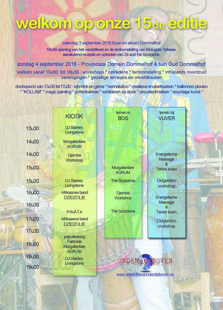 Flyer-affiche ProgrammaWereldfeest